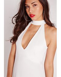 Missguided - Choker Shift Dress White - Lyst