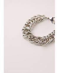 Missguided - Metallic Chunky Chain Bracelet Silver - Lyst