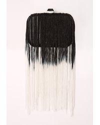 Missguided - Dip Dye Tassel Clutch Bag Black - Lyst