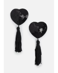 Missguided | Black Heart Nipple Tassels | Lyst
