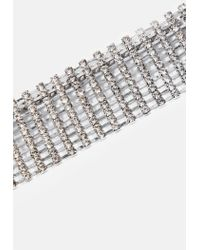Missguided - Metallic Silver Diamante Thick Belt - Lyst