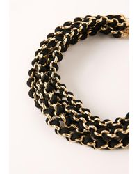 Missguided - Metallic Layered Chain Choker Necklace Gold - Lyst
