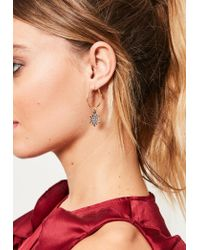 Missguided - Metallic Gold 3 Pack Diamante Charm Earrings - Lyst