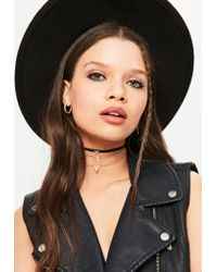 Missguided - Metallic Gold Simple Three Pack Chokers - Lyst