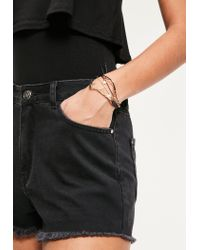 Missguided | Metallic Gold Simple 3 Pack Bracelets | Lyst