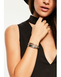 Missguided | Metallic Silver Metal Bracelet Set | Lyst