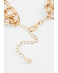 Missguided - Metallic Gold Chain Gemstone Choker Necklace - Lyst