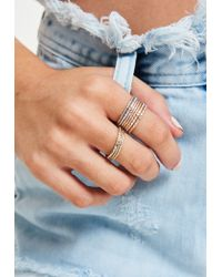 Missguided - Metallic Ring Set - Lyst