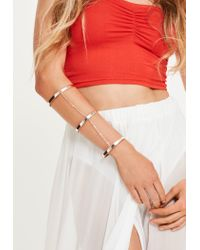 Missguided   Multicolor Rose Gold Chain Layered Full Arm Cuff   Lyst