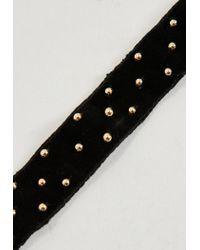 Missguided - Peace + Love Black Plain Stud Choker Necklace - Lyst