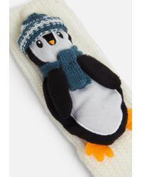 Missguided White 3d Penguin Boxed Socks