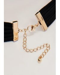 Missguided - Black Multi Band Charm Detail Choker Necklace - Lyst