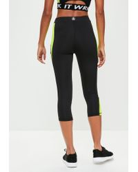 Missguided - Active Black Multi Panel Gym Leggings - Lyst