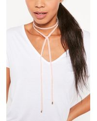 Missguided | Pink Velvet Wrap Choker Necklace | Lyst