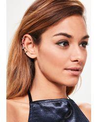 Missguided - Metallic Silver Spike Ear Cuff - Lyst