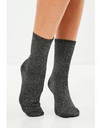 Missguided - Multicolor 3 Pack Glitter Socks - Lyst