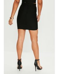 Missguided - Black Bandage Mini Skirt - Lyst