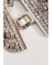 Missguided - Metallic Silver Diamante Layered Bracelet - Lyst