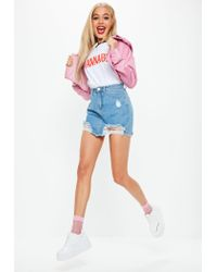 Missguided - White Wannabe Slogan Ringer T-shirt - Lyst