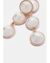 Missguided - Metallic Gold Pearl Drop Earrings - Lyst