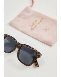 Missguided - Brown Square Tortoiseshell Sunglasses - Lyst
