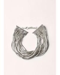 Missguided - Metallic Silver Layered Multi Chain Choker - Lyst