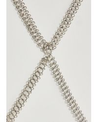 Missguided | Metallic Silver Link Chain Body Chain | Lyst