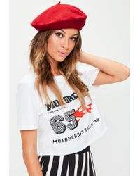 Missguided | Red Beret | Lyst