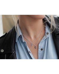 Missoma - Metallic Silver April Crystal Charm Necklace - Lyst
