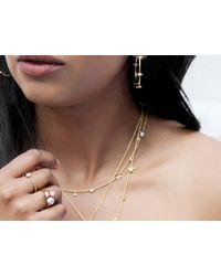 Missoma - Metallic Double Arrow Hoop Earrings - Lyst