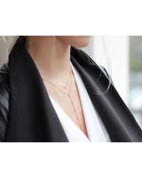 Missoma - Metallic Pave Open Arrow Necklace - Lyst