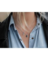 Missoma - Multicolor Silver September Lapis Charm Necklace - Lyst