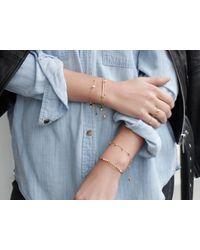 Missoma - Metallic Pave Arrowhead Bracelet - Lyst