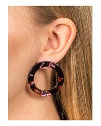 Miss Selfridge - Pink Circle Perspex Stud Earrings - Lyst