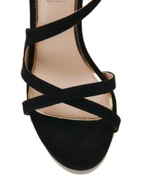Miss Selfridge - Clover Black Strappy Sandal - Lyst