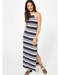 Miss Selfridge - Multicolor Striped Maxi Dress - Lyst
