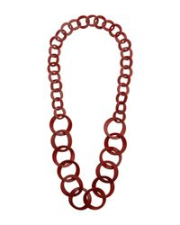 Miss Selfridge - Red Link Necklace - Lyst
