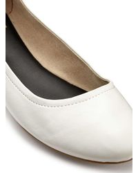 Miss Selfridge - Ebony White Ballet Flats - Lyst