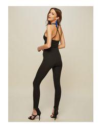 Miss Selfridge - Black Cut Out Jumpsuit - Lyst