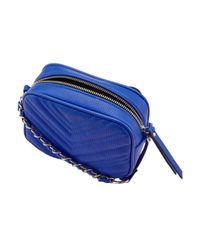 Miss Selfridge - Blue Quilted Cross Body Bag - Lyst