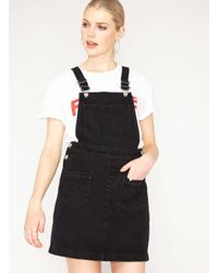 f464523cb9 Lyst - Miss Selfridge Petite Denim Pinafore Dress in Blue