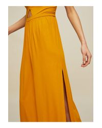 Miss Selfridge - Yellow Ochre Side Split Jumpsuit - Lyst