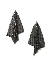 Miss Selfridge | Black Chainmail Earrings | Lyst