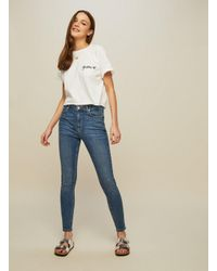Miss Selfridge - Blue Lizzie High Waist Skinny Mid Wash Jeans - Lyst