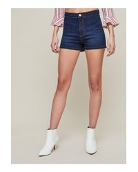 Miss Selfridge - Blue Indigo Steffi Shorts - Lyst