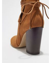 Miss Selfridge - Brown Tan Arial Wrap Ankle Boots - Lyst