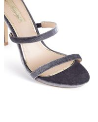 Miss Selfridge - Gray Cait Three Strap Barely There Sandals - Lyst