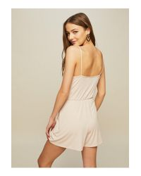 Miss Selfridge - Pink Frill Playsuit - Lyst