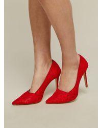 Miss Selfridge - Red 's Lori Closed Toe Heels - Lyst