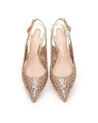 Moda In Pelle - Metallic Lunas Court Shoes - Lyst